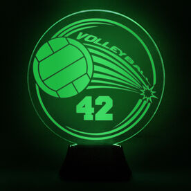 Volleyball Acrylic LED Lamp Spike With Number