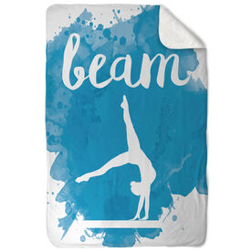 Gymnastics Sherpa Fleece Blanket - Beam
