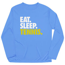 Tennis Long Sleeve Performance Tee - Eat. Sleep. Tennis.