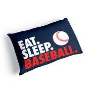 Baseball Pillowcase - Eat Sleep Baseball
