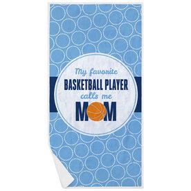 Basketball Premium Beach Towel - My Favorite Player