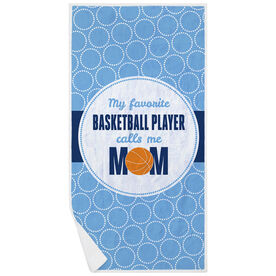 Basketball Premium Beach Towel - My Favorite Player
