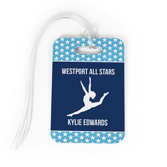 Gymnastics Bag/Luggage Tag - Personalized Gymnastics Team with Gymnast