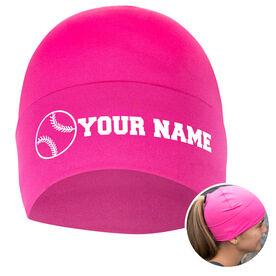 Performance Ponytail Cuff Hat Personalized Name Softball Ball
