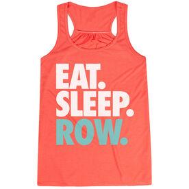 Crew Flowy Racerback Tank Top - Eat Sleep Row (Bold)