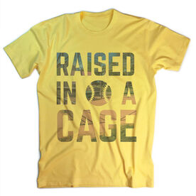Vintage Softball T-Shirt - Raised In A Cage
