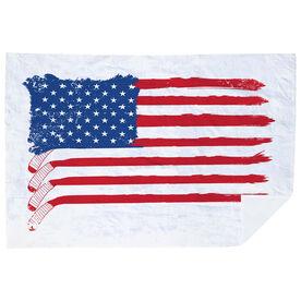 Hockey Premium Blanket - American Flag Sticks