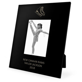 Figure Skating Engraved Picture Frame - Skates