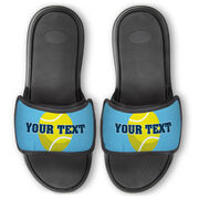 Tennis Repwell® Slide Sandals - Tennis Ball With Text