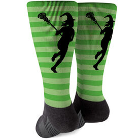 Girls Lacrosse Printed Mid-Calf Socks - Lax Witch
