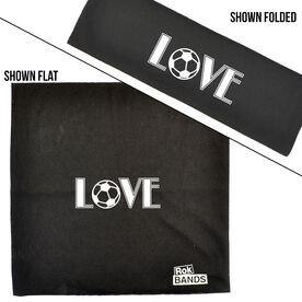 RokBAND Multi-Functional Headband - Love Soccer
