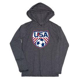 Men's Soccer Lightweight Hoodie - Soccer USA