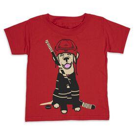 Hockey Toddler Short Sleeve Tee - Hunter the Hockey Dog