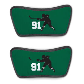 Hockey Repwell™ Sandal Straps - Hockey Slapshot with Number