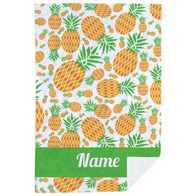 Personalized Premium Blanket - Pineapple Crazy