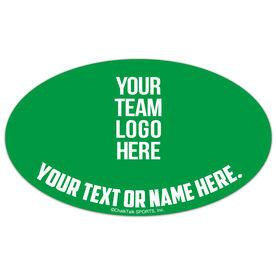 Football Oval Car Magnet Your Logo