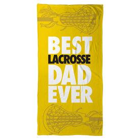 Girls Lacrosse Beach Towel Best Dad Ever