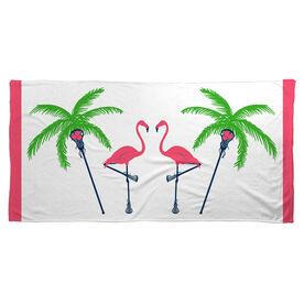 Lacrosse Beach Towel Palm Tree & Flamingo