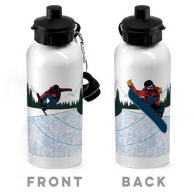 Snowboarding 20 oz. Stainless Steel Water Bottle - Go For Air
