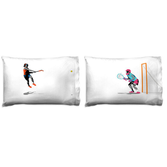 Girls Lacrosse Pillowcase Set - She Goes For The Goal