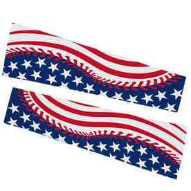 Baseball Printed Arm Sleeves - American Flag Ball