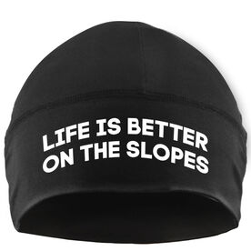 Skiing & Snowboarding Beanie Performance Hat - Life is Better on the Slopes