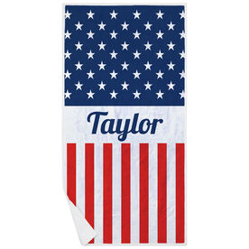 Personalized Premium Beach Towel - A Flag For You