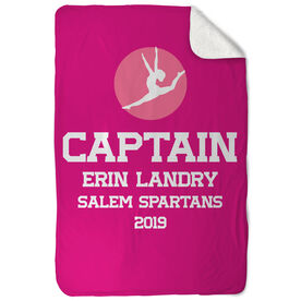 Gymnastics Sherpa Fleece Blanket - Personalized Captain