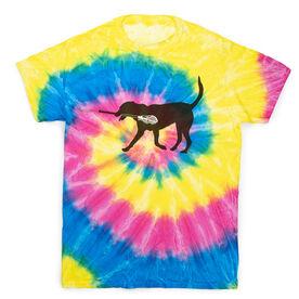Guys Lacrosse Short Sleeve T-Shirt - Max The Lax Dog Tie Dye