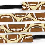 Football Juliband No-Slip Headband - Tossed Ball Pattern