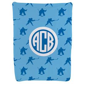 Hockey Baby Blanket - Hockey Pattern
