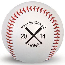 Custom Baseball Thanks Coach