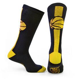 Basketball Woven Mid-Calf Socks - Superelite (Black/Neon Yellow)