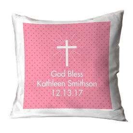 Personalized Throw Pillow - God Bless Her