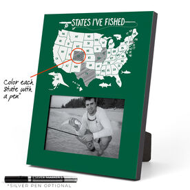Fly Fishing Photo Frame - States I've Fished