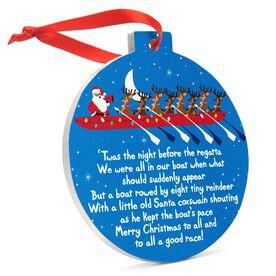 Crew Round Ceramic Ornament - Reindeer and Santa 'Twas the Night