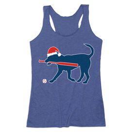 Baseball Women's Everyday Tank Top - Play Ball Christmas Dog