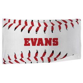 Baseball Beach Towel Personalized Stitches