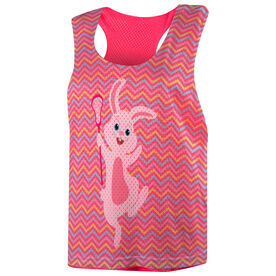 Girls Lacrosse Racerback Pinnie - Lax Easter Bunny