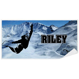 Snowboarding Premium Beach Towel - Personalized Silhouette
