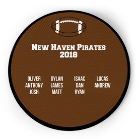 Football Circle Plaque - Team Roster