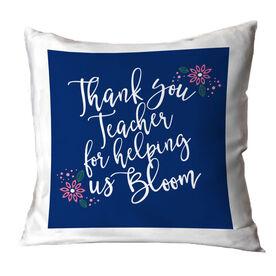 Teacher Throw Pillow - Bloom