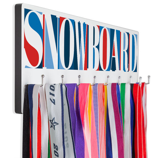 Snowboarding Hooked on Medals Hanger - Snowboard Mosaic