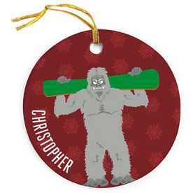 Snowboarding Porcelain Ornament Are You Yeti To Snowboard