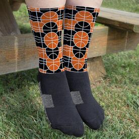 Basketball Printed Mid-Calf Socks - You're Surrounded