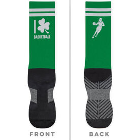 Basketball Printed Mid-Calf Socks - I Shamrock Basketball Girl