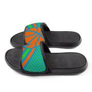 Basketball Repwell® Slide Sandals - Basketball Dots