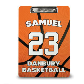 Basketball Custom Clipboard Personalized Big Number Basketball