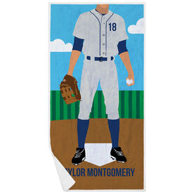 Baseball Premium Beach Towel - Baseball Player