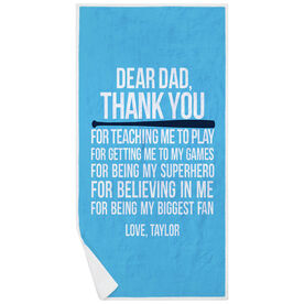 Softball Premium Beach Towel - Dear Dad